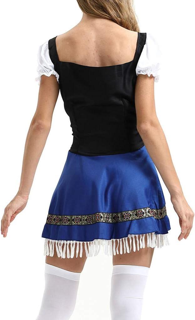 Flyshow Kleider Damska,Frauen Beer Festival Kleid Maidservant Kleid Beer Festival Cosplay Kostüme? Kleid Dirndl Damska 3 TLG, Damska Midi für Oktoberfest?Freizeitkleid MiniKleid: Odzież