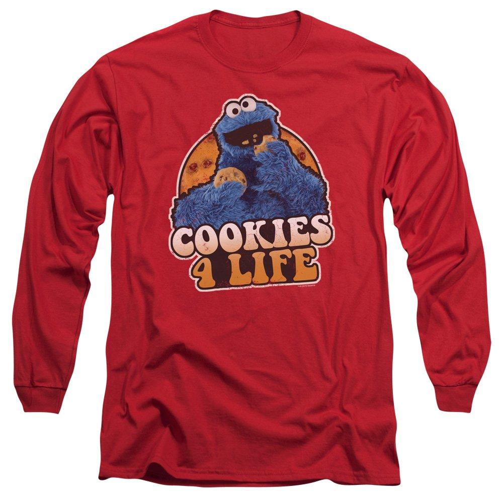 226580b25c A  E Designs Cookie Monster T-Shirt Cookies 4 Life Long Sleeve Shirt TREV-