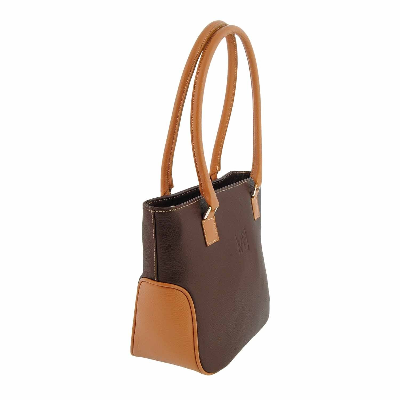 Paula Alonso shoppingkasse läderstil Marron/Cuero