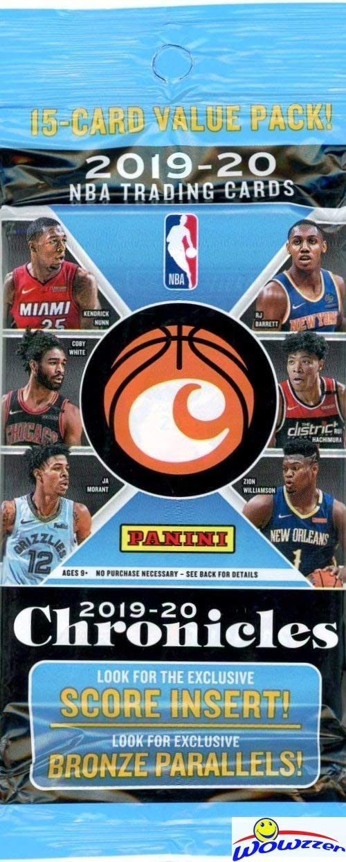 15 cards//pack 2019-2020 Panini Chronicles Basketball VALUE pack