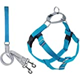 """2 Hounds Design PK LG TQ Freedom No-Pull Dog Harness with Leash, (1"""" Wide), Turquoise, Large"""