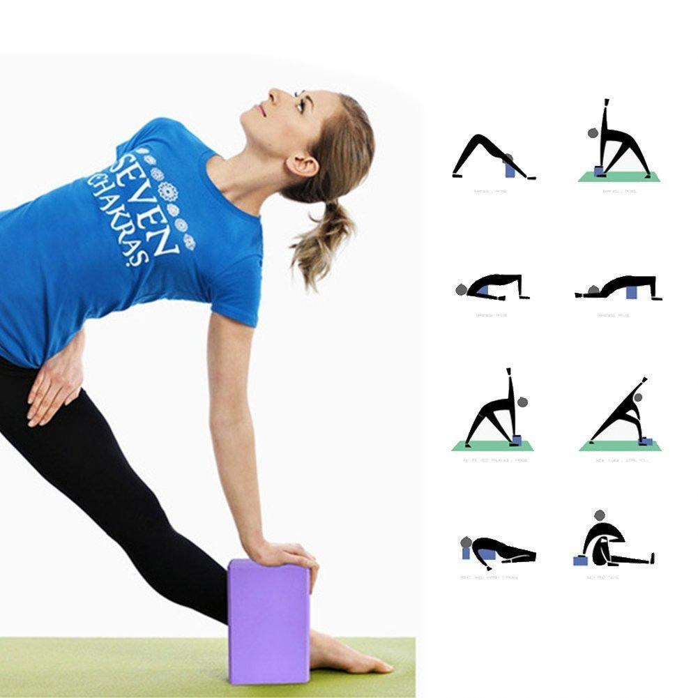 1pc P/úrpura TrifyCore TaoNaisi Bloque de Yoga de Espuma Ladrillos para Ejercicio y Fitness Comodidad de Alta Densidad EVA 23 7.5cm 15
