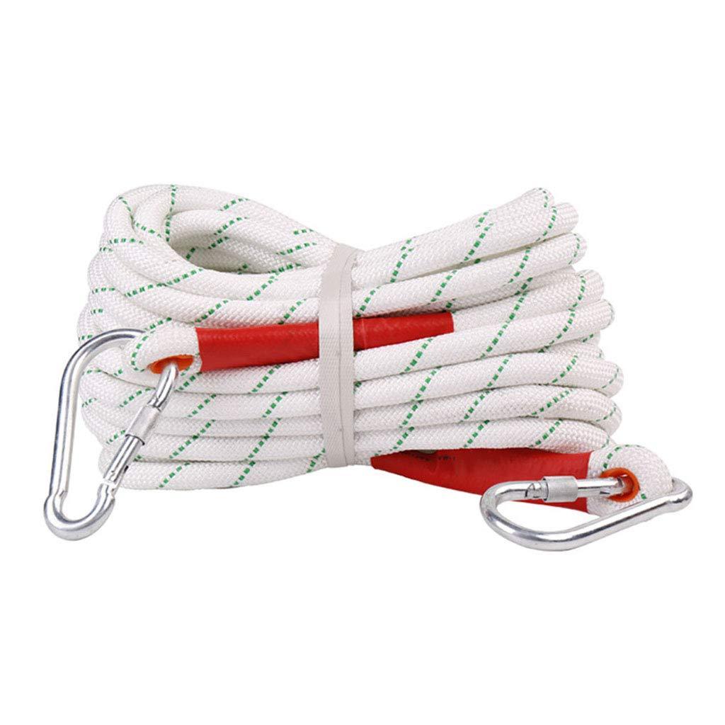 安全ロープ直径20 mm(4/5 in)屋外用スタティックロッククライミングロープ消防救助用パラシュート(長さ:10M、20M、50M、60M、80M、100M) B07PMBTN1T  50M 50M