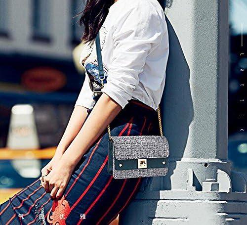 Summer Chain Mini Bag Slant Bag Single Shoulder Female Bag,Blue,19.5X13.5X7Cm