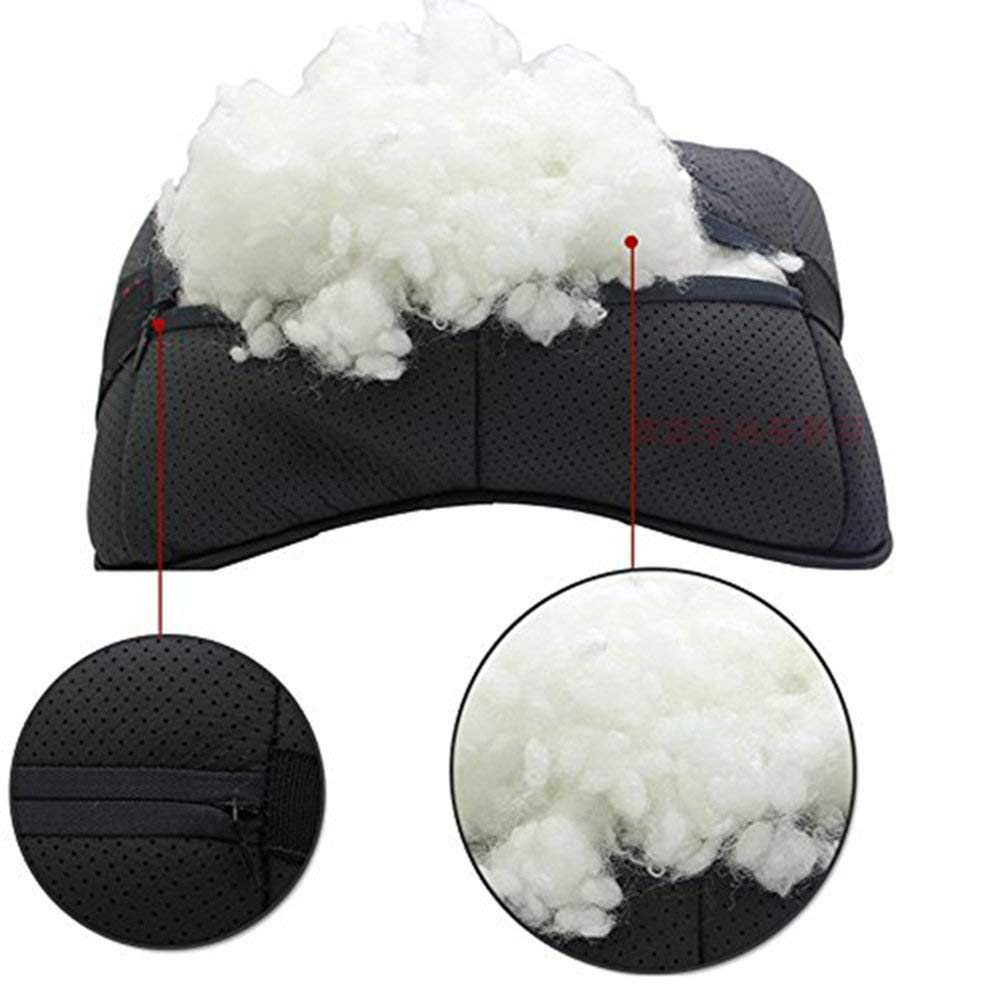 Jeep Auto Sport 2 PCS Genuine Leather Bone-Shaped Car Seat Pillow Neck Rest Headrest Comfortable Cushion Pad with Logo Pattern