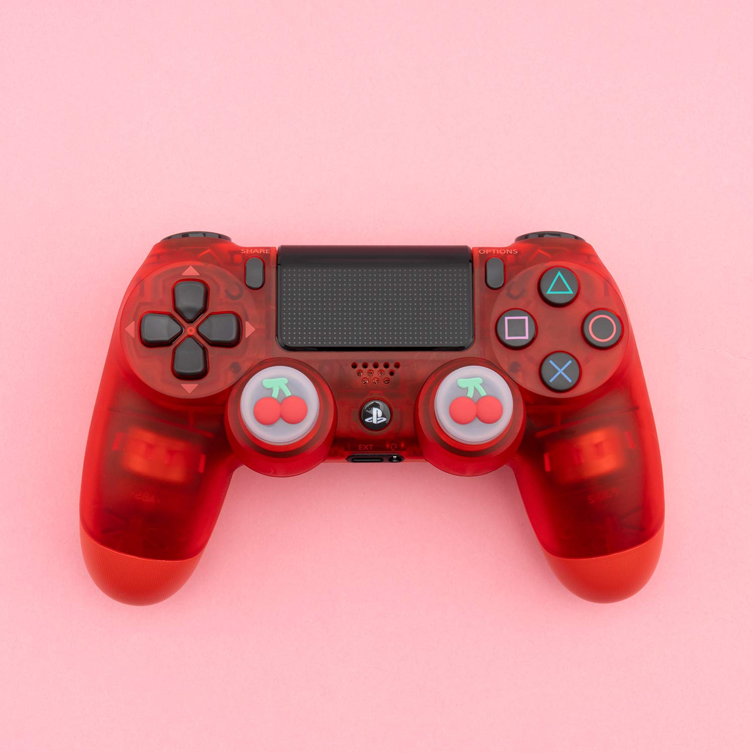 Thumbsticks Cover Set Compatible with Switch Pro Controller and PS4 Controller Cherry and Turnip GeekShare Fruits Theme Playstation 4 Controller Thumb Grips 2 Pair // 4 Pcs