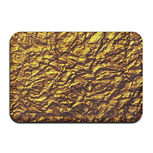 Rug Contour Square (YS25 Bathroom Rug Mat Contour Rug Toilet Floor Rug Flannel Bath Shower Mat Golden Wallpaper Square Carpet)