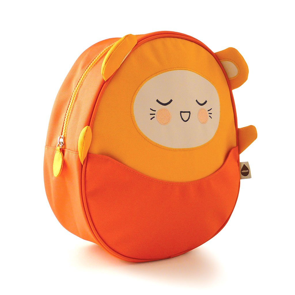Milkdot Kawaii Pac Mini Backpack, Orange Charlie