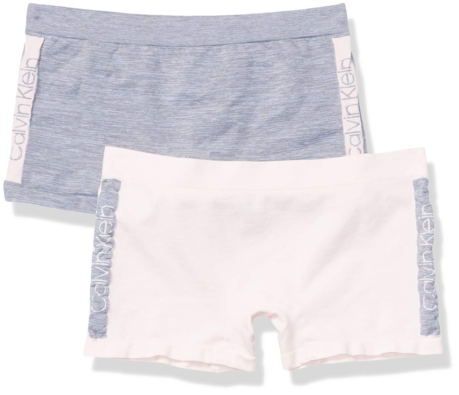 Calvin Klein Girls' Little Seamless Play Short, Multipack
