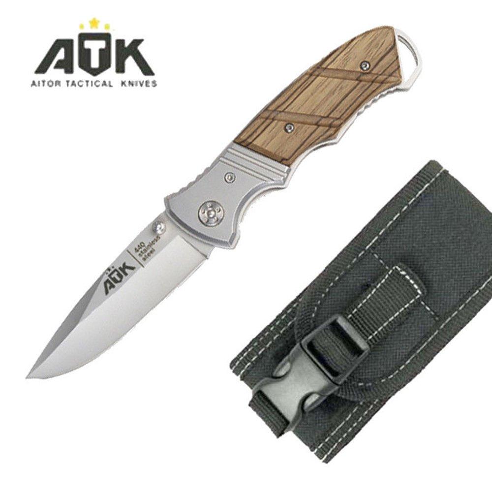 ATK Navaja Acero INOX.440 Hoja de 8,5 cm. 16409-C: Amazon.es ...