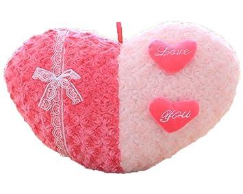 Good Night Romántico En forma de corazón Almohada de peluche para Decoración del dormitorio del matrimonio