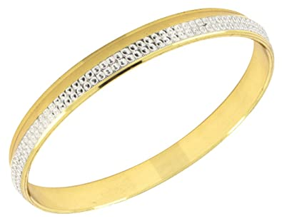 The Jewelbox Zivom Laser Rhodium Gold Plated Punjabi Sardarji Kada