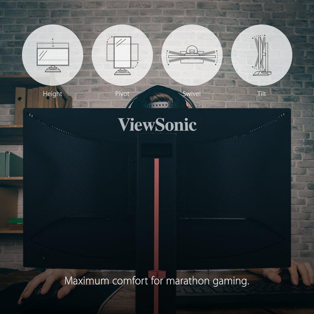 ViewSonic XG2401 24'' 144Hz 1ms 1080p FreeSync Gaming Monitor HDMI, DisplayPort by ViewSonic (Image #4)