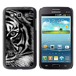 TopCaseStore / la caja del caucho duro de la cubierta de protección de la piel - Eye Black White Stripes Africa - Samsung Galaxy Win I8550 I8552 Grand Quattro