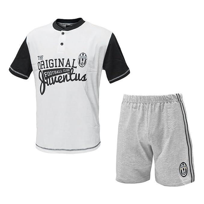 ab0b5cf452 PLANETEX Pigiama Adulto Juve Maglia e Pantaloncini Abbigliamento Juventus PS  24994: Amazon.it: Abbigliamento