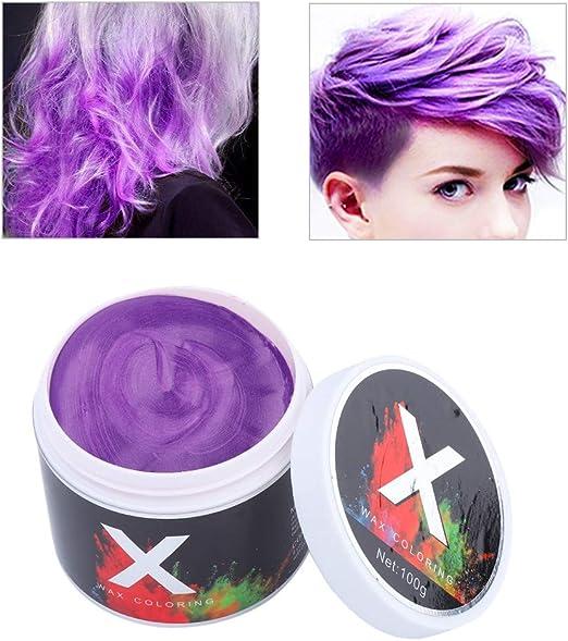 Simlug 【𝐕𝐞𝐧𝐭𝐚 𝐑𝐞𝐠𝐚𝐥𝐨 𝐏𝐫𝐢𝐦𝐚𝒗𝐞𝐫𝐚】 Color de Cabello Cera Instantánea Desechable Temporal Peinado Tinte Barro(Púrpura)