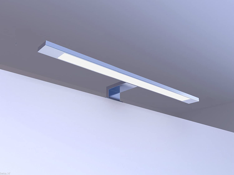 LED Badleuchte Badlampe Spiegellampe Spiegelleuchte Aufbauleuchte 450mm NW Alu Eloxiert - Warmweiß
