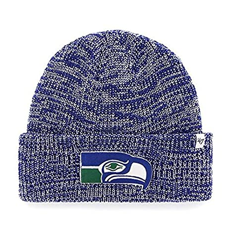1b85bb191b1 Image Unavailable. Image not available for. Color  Seattle Seahawks Royal  Blue Cuff  quot Lancaster quot  Beanie Hat - NFL Cuffed Winter Knit