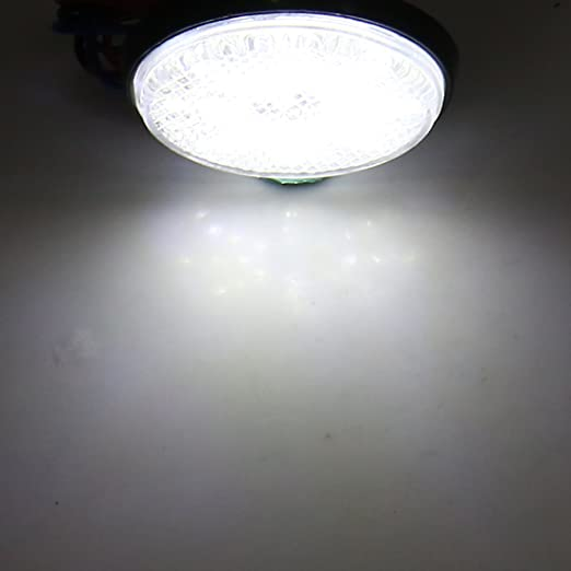 sourcing map 2pcs R/éflecteur LED Moto Rouge Lampe Forme Ronde feu Stop arri/ère