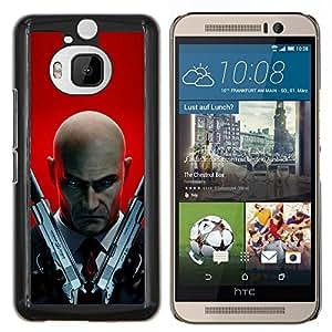 Hitman 47- Metal de aluminio y de plástico duro Caja del teléfono - Negro - HTC One M9+ / M9 Plus (Not M9)