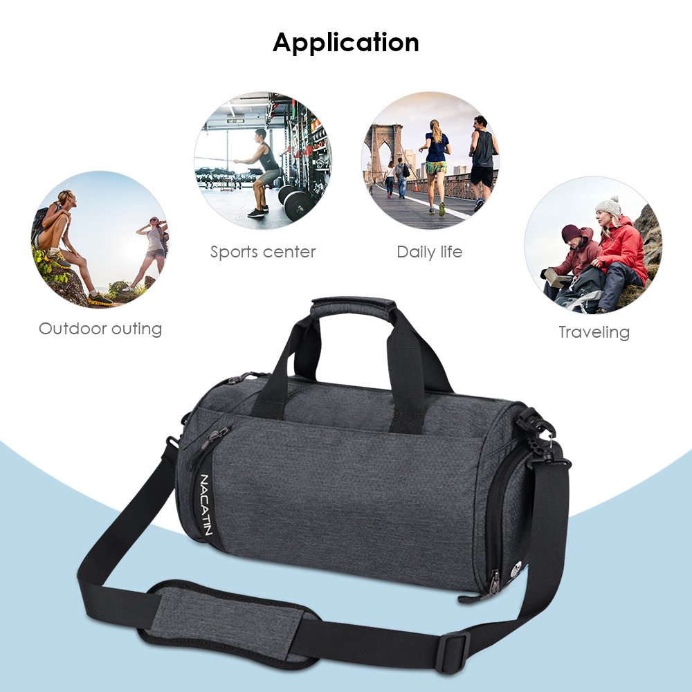 NACATIN 25L Sports Gym Bag with Shoe Compartment 81e2e393637cc