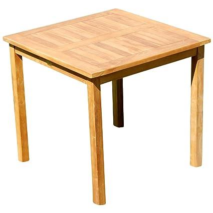 Holztisch Gartentisch.Ass Teak Holztisch Gartentisch Garten Tisch 80x80cm Gartenmöbel Holz Sehr Robust Modell Jav Alpen80 Von