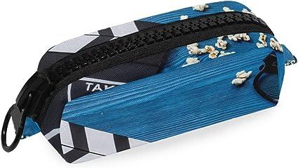 Estuche para lápices de palomitas de maíz con cremallera, ideal para maquillaje: Amazon.es: Oficina y papelería