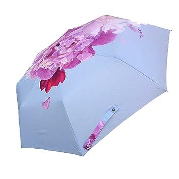 Parasol Compacto Anti UV Paraguas Mini Bolsillo Parasol Ultra Ligero Paraguas A Prueba De Viento Plegable