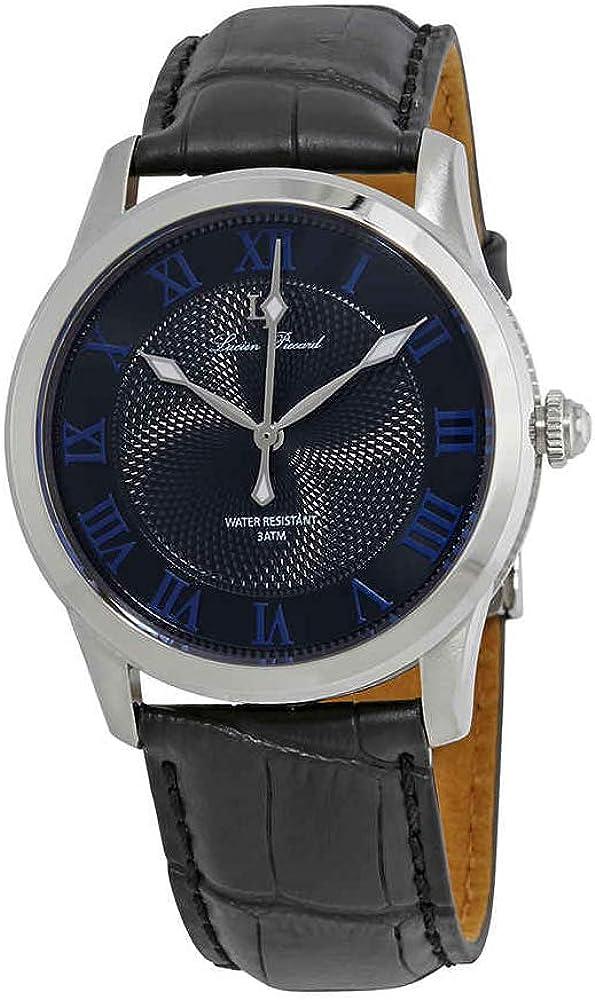 Lucien Piccard Men s LP-40005-01-BLA Olympus Analog Display Japanese Quartz Black Watch