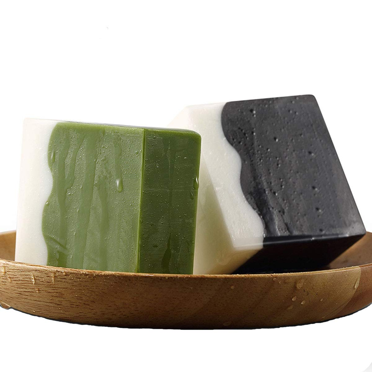 Essential Oil Handmade Soap Bar, Plant Essence Face and Body Treatment Care Soap (2 pcs, 3.5oz each)