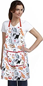 Home-X Cat Print Apron