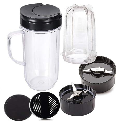 Replacement,Compatible Nutri Ninja Auto IQ Blenders,Blade,Cup,Jar,Flip Top Lid..