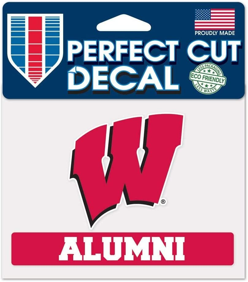 NCAA University of Wisconsin WCR36197014 Perfect Cut Color Decal, 4.5