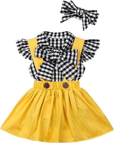 3PCS Toddler Baby Girls Cotton Long Sleeve Romper Flower Skirt Bowknot Dress Set