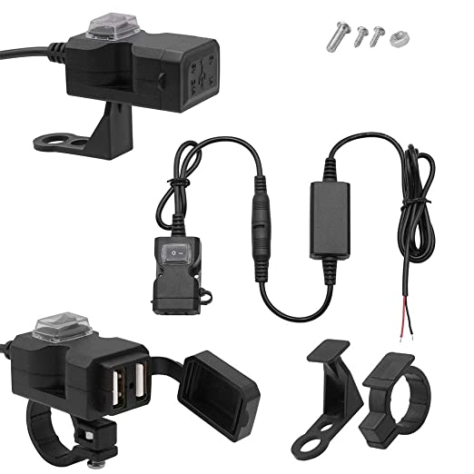 SEN 9-24V Moto Coche eléctrico USB Teléfono móvil Cargador ...