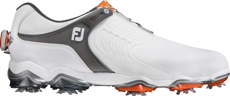 FootJoy Tour-S BOA Golf Shoes B07C8Y4D9T 10.5 2E US|White/Grey