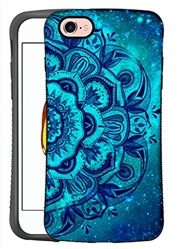 ZUSLAB for Apple iPhone 8/iPhone 7 Case with Mandala Pattern Design, Shockproof Hard Case with Slicone Bumper, Heavy Duty Protective Cover (Pattern Hard Case)