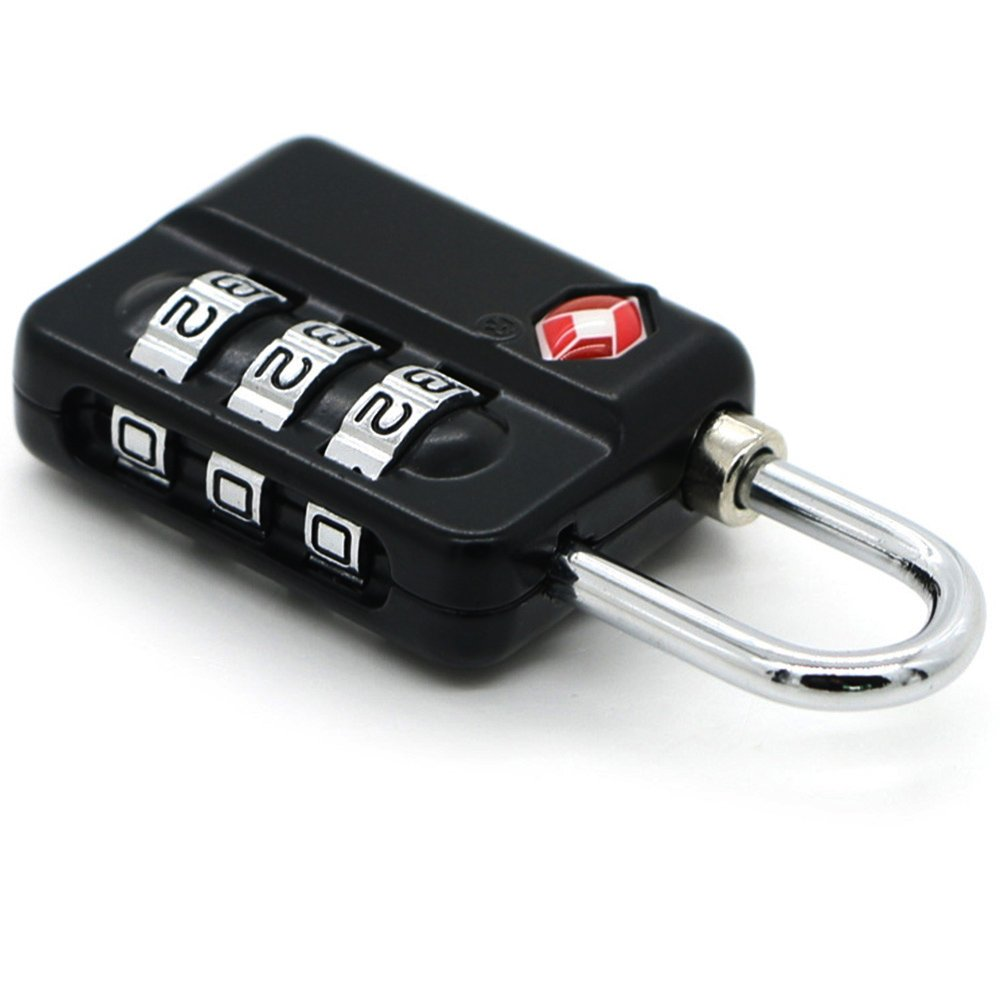 TSA Luggage Locks (4Pack) -Combination Padlocks - Approved Travel Lock for Suitcases & Baggage by Zhovee (Image #3)