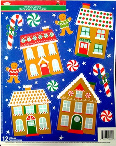 Christmas decorative window clings reusable stickers for Affordable furniture greenbriar