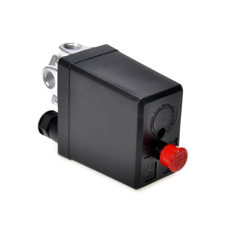 90-120 PSI 240V Control Interruptor Vávula de Presión de Aire: Amazon.es: Bricolaje y herramientas