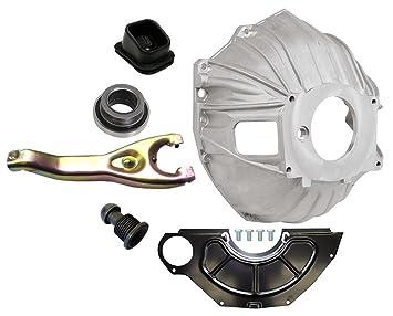 Nueva SWS Chevy aluminio bellhousing, volante inspección Cover, throwout rodamientos embrague, horquilla, horquilla de embrague embrague ...