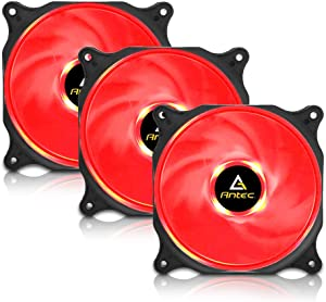 Antec PC Fan, Long Life Computer Case Fan, 120mm Cooling Case Fan for Computer Cases, Cooling LED Red