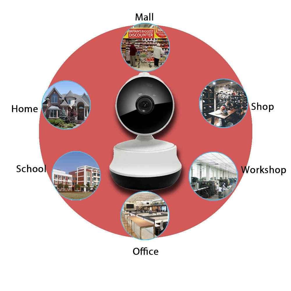 720P Wlan IP Überwachungskamera,Stereo two Wege Audio zum Gegensprechen,PIR Nachtsichtmodus,Auto-Alarmanlagen ip-kamera,WiFi IP Sicherheits kamera,Webcams Mikrofone Überwachungskameras,Videoaufnahmekapazität direkt aufine microSD Karte mit bis zu 32GB