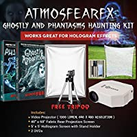 AtmosfearFX Ghostly Apparitions, Phantasms DVD Ultimate Haunting Kit, Includes Translusent Screen, Hologram Screen With Stand Kit and Free Tripod
