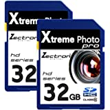 2 x 32GB Memory Cards SD SDHC Class10 64GB Total for Nikon D7000 digital camera camcorder