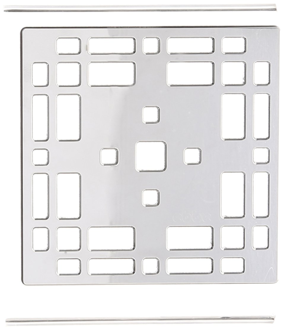 Ebbe America - Prairie Polished Chrome Square Shower Drain E4801 E4801-PC