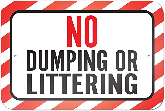 Amazon.com: No Vertimiento o littering 9