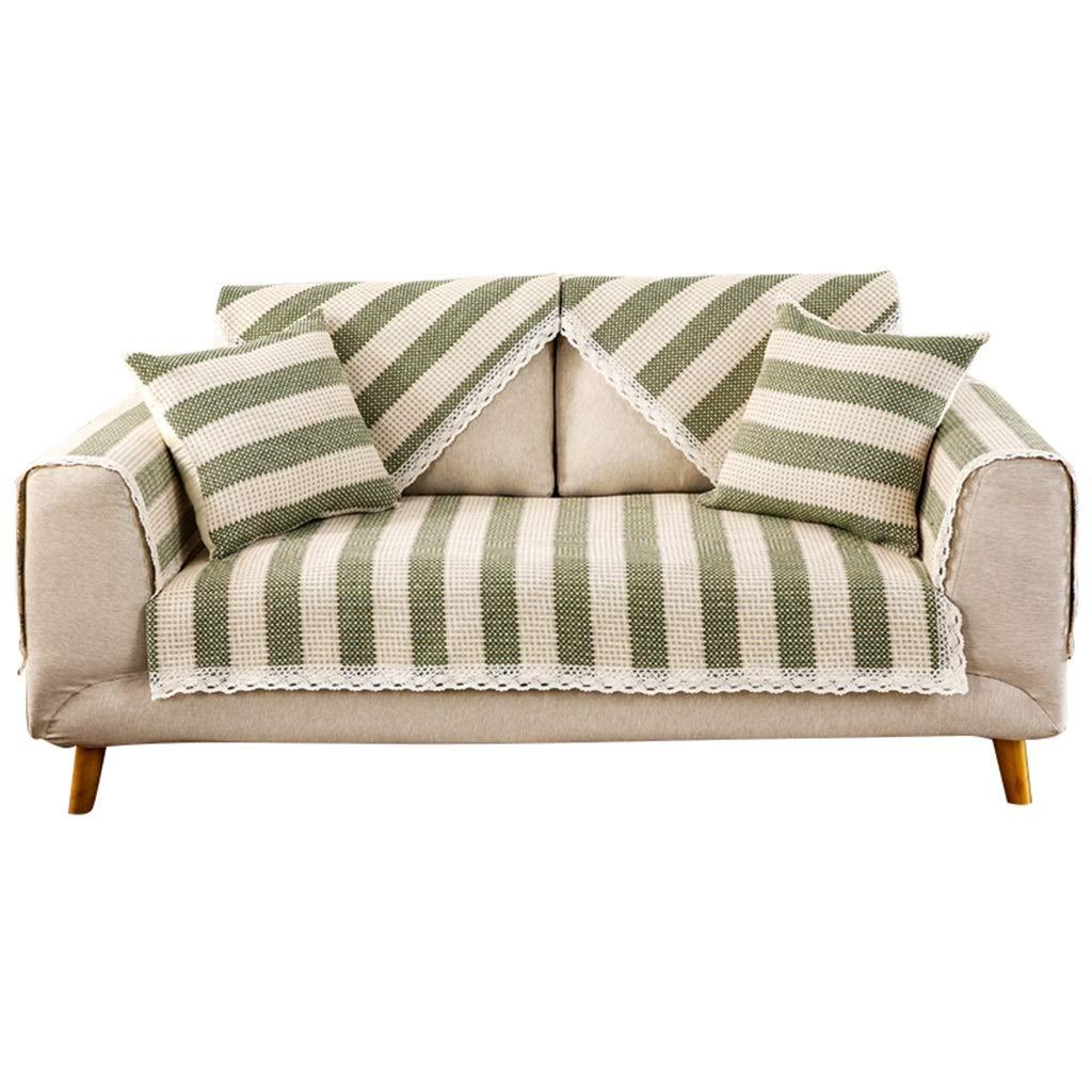 Furniture Accessories Sofa Cushion Carpet Tablecloth Simple Linen Sofa Cushion Fabric Four Seasons Universal Back Sofa Towel Cover Slip wash (Color : White, Size : 90210cm)