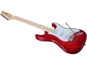 Amazon.com: Indio Retro Classic Electric Guitar with Gig Bag-Blond ...