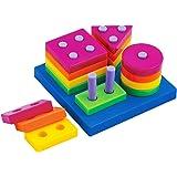 Baby Shape Sorts Colors Board Preschool Early Developmental Educational Geometric Block Puzzle Toys Christmas Gift for Kids Children Toddler Boy Girl